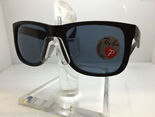 RAYBAN Sunglasses RB 4165 622/2V 54MM JUSTIN MATTE BLACK/POLARIZED DARK BLUE LEN