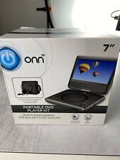 New listing Onn Swivel Portable Dvd Player Kit 7� Carry Case Headphones Car Charger Remote