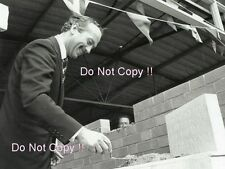 Colin Chapman Lays the Foundation Stone New Lotus Headquarters 1966 Photograph