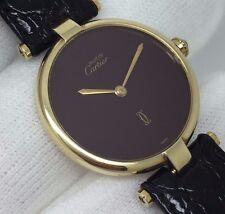 Classic Unisex Must De Cartier Vermeil Argent Ronde