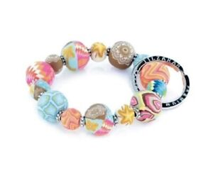 NEW JILZARAH Handmade Clay Beads SOUTH BEACMULTI COLOR 15mm SMALL Wrist Keychain