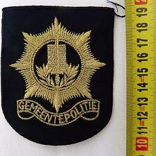 DUTCH POLICE GEMEENTEPOLITIE POLITIE CLOTH BADGE/PATCH - GENUINE - NEW & UNUSED
