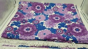 Vintage Purple Flower Pattern Large Double Bed Cover through 100.5 by 84.5inches