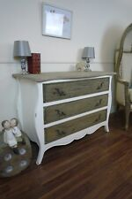 Rustic Country Three Drawer Chest In White - Handmade Chest Of Drawers