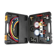4 Way Diagnostic Manifold Gauge Set R410 R22 R134a Professional Ac/Hvac Tool Kit