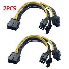 2X PCI-E 8-pin To 2x 6+2-pin (6-pin/8-pin) Power Splitter Cable PCIE PCI Express