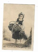 Old Trade Card George Ross Grocer Groceries Towanda Pa Little Girl Sticks Basket