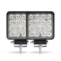 2X 48W LED Spot Light Bar Pods Work Driving Fog Lamp Offroad Truck SUV UTV ATV