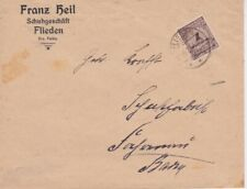 Germany-1923 (Nov 10th) Inflation period 1 Milld Marks brown on Flieden cover