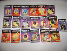Transformers Encore 17 21 22 Shattered Glass Soundwave - BIG rare tech card lot