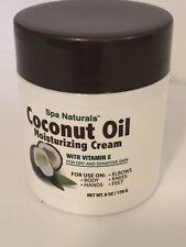 Spa Naturals Coconut Oil 6 Oz Coconut Oil Moisturizing Cream Vitamin E Dry Skin