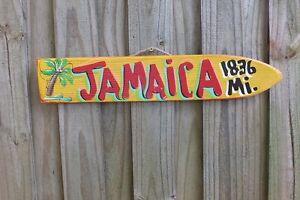 JAMAICA - TROPICAL TIKI DIRECTIONAL DESTINATION ARROW POOL ISLAND POINTER SIGN