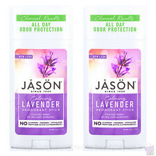 PACK OF 2 Jason Calming Lavender Pure Natural Deodorant Stick 2x71g