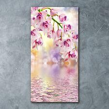Wand-Bild Kunstdruck aus Acryl-Glas Hochformat 60x120 Orchidee