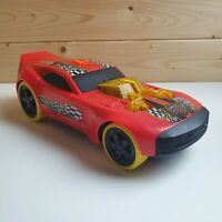 Hot Wheels Large red race car with lights and sounds - Mega muscle - Toy