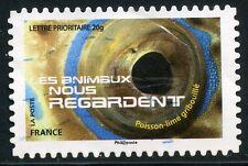 TIMBRE FRANCE AUTOADHESIF OBLITERE N° 1162 LES ANIMAUX NOUS REGARDE POISSON LIME