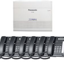 Panasonic KX-TA824-T7730PK6 (KX-TA824, 6 KX-T7730) Packages Black Brand New!