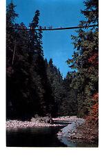 Capilano Canyon Suspension Bridge-North Vancouver BC Canada-Vintage Postcard
