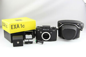 Exa 1 C analoge Spiegelreflexkamera schwarz in OVP # 7583
