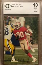 1994 Pacific Football Card #41 Jerry Rice BCCG 10 San Francisco 49ers NFL (J7)
