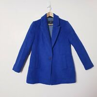 Cue Womens Size 14 Blue wool blend Coat Jacket