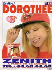 Publicité advertising 1996 Concert Dorothée au Zenith