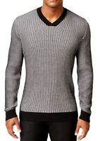 Alfani New Mens V-Neck Waffle Knit Pullover Sweater 14303SWT