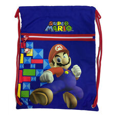 Backpack drawstring SUPER MARIO blue