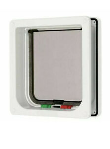 CAT MATE 4-WAY LOCKING LARGE CAT FLAP White
