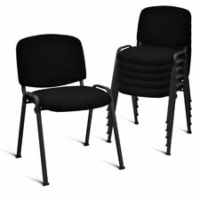 Set Of 5 Conference Chair Elegant Office Waiting Room Guest Reception Black