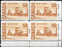 Canada Mint Scott #465A 50c 1967 Block of 4 VF Stamps Never Hinged