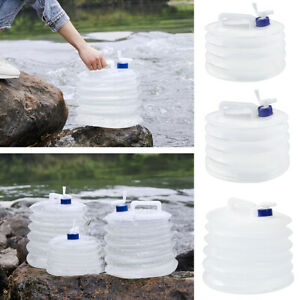 3L-15L Water Carrier Container Foldable With Tap Portable Camping Travel Bottle