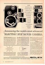 "1959 Bolex B-8L Computmatic 3 Lens ""Electric Eye"" Movie Camera Paillard Print Ad"