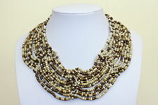 Collar Necklace Ivory Colour Bronze Gold Cleopatra Style Choker Collar DB06