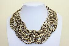 Collar Collar Marfil Color Bronce Oro Gargantilla Cuello Estilo Cleopatra DB06