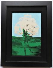 """Steve Kaufman """"Dali Man Ship"""" Hand Signed Silkscreen on Canvas, COA"""