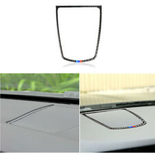 Real Carbon Fiber Dashboard Speaker panel Stickers Cover for BMW F10 5 series