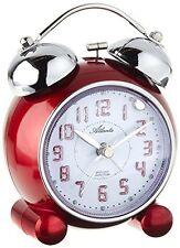 Réveil Atlanta quartz rouge, sonnerie sur cloche, répétition, éclairage 1503/1