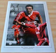 Neil Ruddock SIGNED 16x12 Photo Autograph Darts Liverpool Signing PROOF & COA