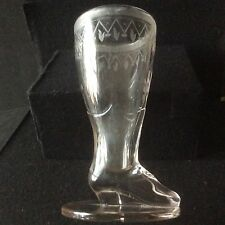 A Very Scarce Victorian Pressed Glass Pedestal Boot / Shoe c1880 - Item # 197