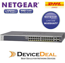 Netgear S3300-28X-PoE+ ProSAFE 24-port PoE+ Gigabit Smart Switch GS728TXP