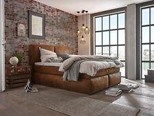 Boxspringbett 180x200 Stoff braun Hotelbett Doppelbett Möbel massivum Cassidy