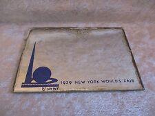 Vintage 1939 New York World's Fair Pocket-Sized Mirror