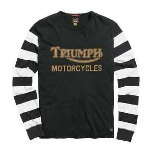 Triumph Ignition Coil Longsleeve T Shirt - Black / New Bone | UK Stock