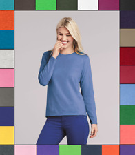 Gildan Women's Long Sleeve Heavy Cotton T-Shirt Blank Tee Top Shirts S-3XL G540L