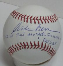 """CORBIN BERNSEN Signed Baseball AUTO w/""""Strike Mothe Fker"""" MAJOR LEAGUE Movie JSA"""