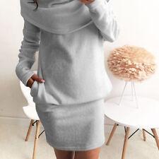 Winter Womens Long Sleeve Jumper Top Blouse Ladies Bodycon Sweater Mini Dress:)