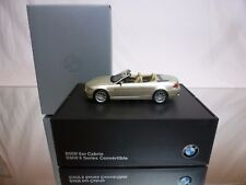 KYOSHO BMW 6 SERIES CONVERTIBLE - BEIGE METALLIC 1:43 - EXCELLENT IN DEALER BOX