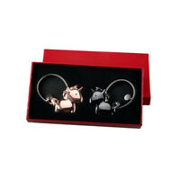 2pcs Magnetic Destined Kiss Couples Keychain for Love Valentine Gift wit