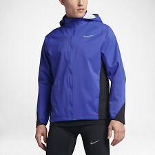 Nike ESCUDO hombre chaqueta para correr XL Azul Negro Entrenamiento Abrigo